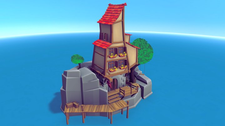 Low Polly Paradise 3D Model