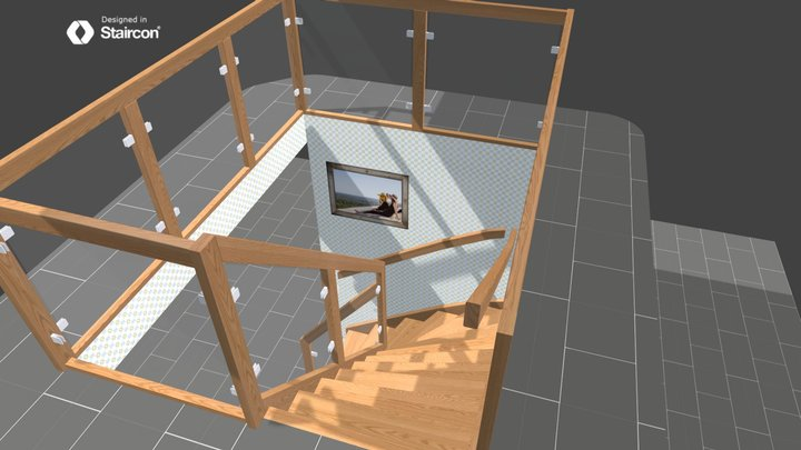 European Glass balustrade 3D Model