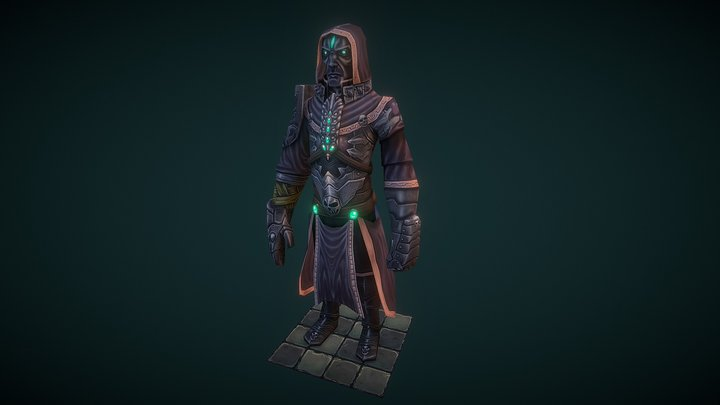 Low Poly Wizard 3D Model
