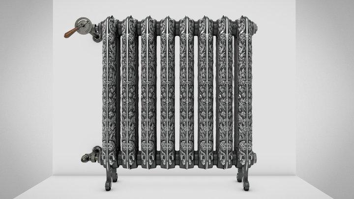 KASZUB cast-iron radiator 3D Model