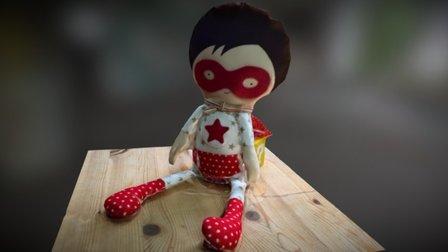 Superhero Doll (photogrammetry) 3D Model
