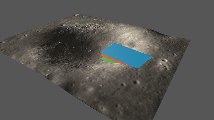 Sinus Iridum (Moon): Yutu GPR path 3D geo model 3D Model