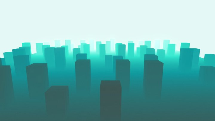 Gradient City 3D Model