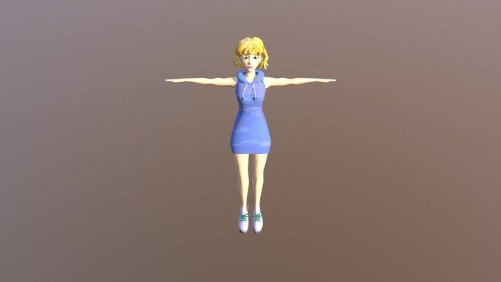 Hoodie Girl 3D Model