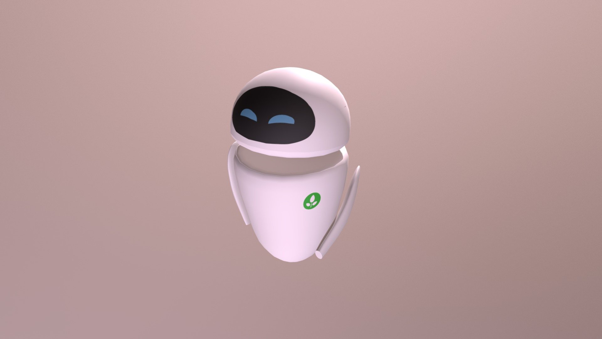 Eva From Wall-E - 3D model by Henrique_Meneses