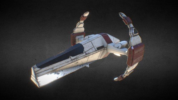 A spaceship 3D Model