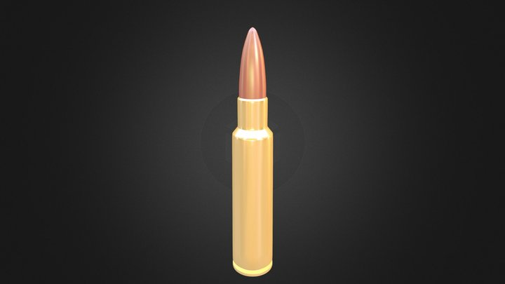 Armour Piercing Round 3D Model