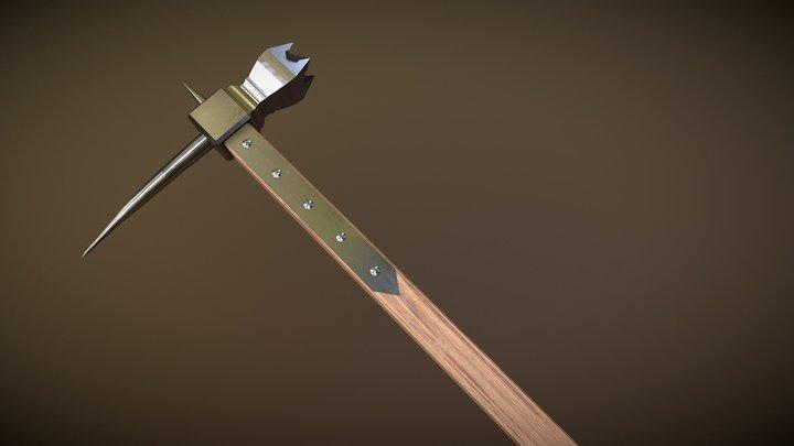 One-Handed Warhammer 3D Model