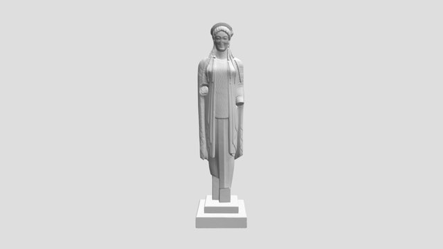 Kore dressed in chiton and cape (epiblema) 3D Model