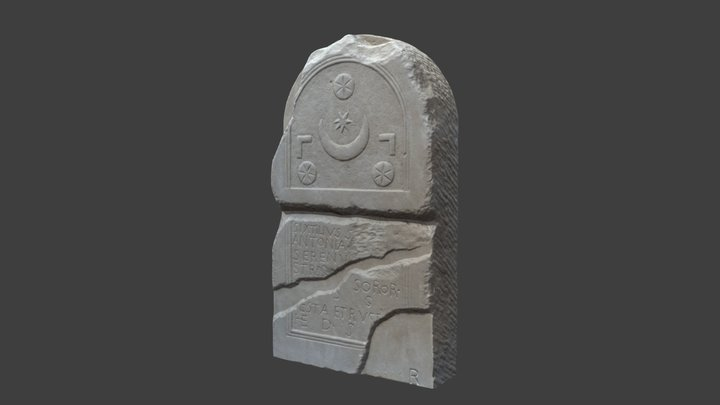 Réplica Estela Romana Labrit Pamplona 3D Model