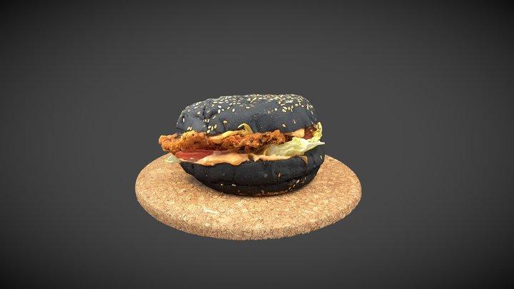 Black Burger 3D Model