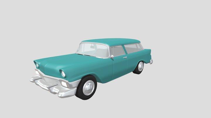 Vintage Station Wagon Car 3D Model