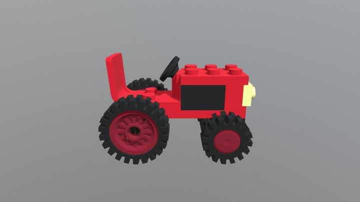 Tractor lego 3D Model