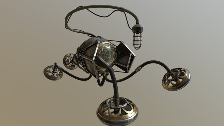 Steampunk Explorer-glTF 3D Model