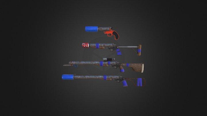 Homemade Shotgun - Fallout 4 inspired weapon 3D Model
