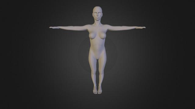 Female, subject 1 3D Model