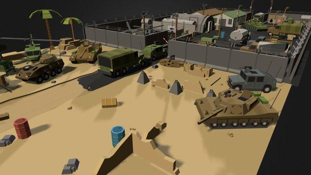 SIMPLE MILITARY - CARTOON WAR 3D Model