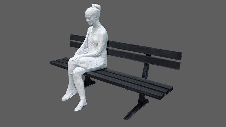 Woman on park bench, 1998 3D Model