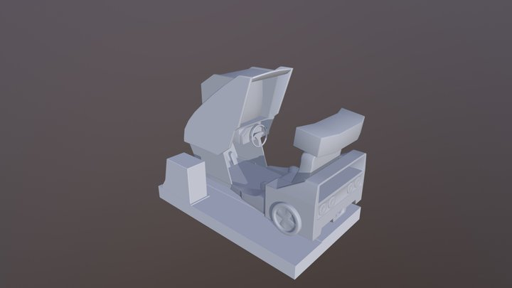 Outrun'ish arcade cabinet 3D Model