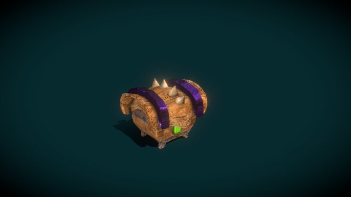 CandyWood Chest 3D Model