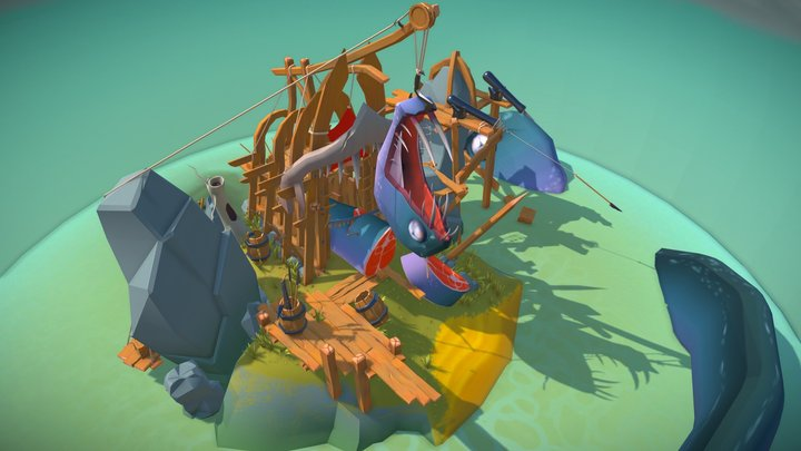 The Butchery of Giants 3D Model