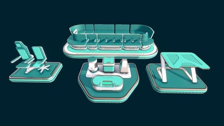 Sci-Fi assets pack 3D Model