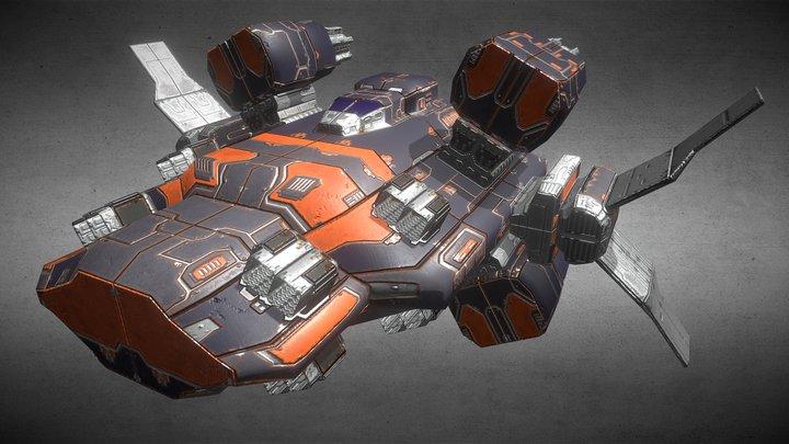 Heavy Missile Corvette 3D Model