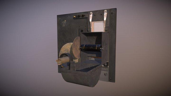 Montageplaat Achterkant 3D Model