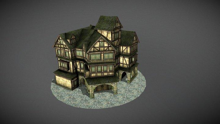 Medieval Trading Center 3D Model