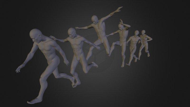 Running Man 3D Model