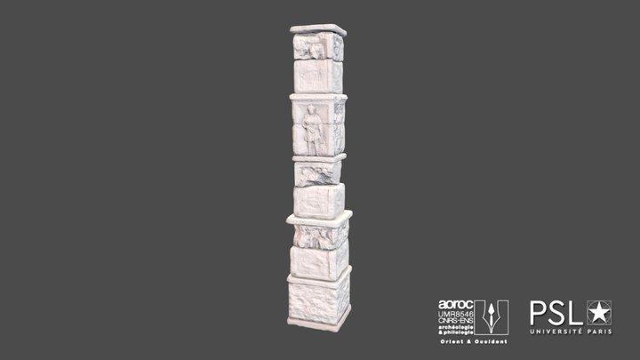 Pilier des Nautes de la Seine 3D Model