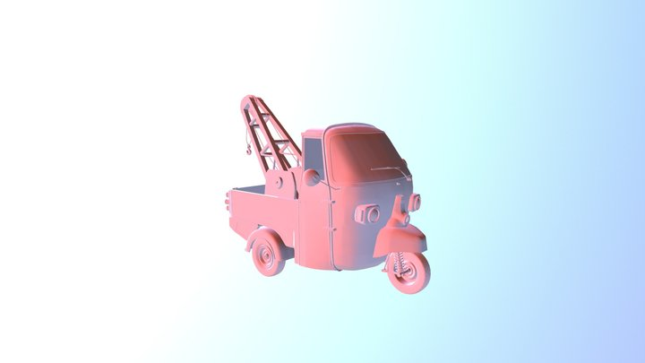 Scooter Tow Truck 3D Model