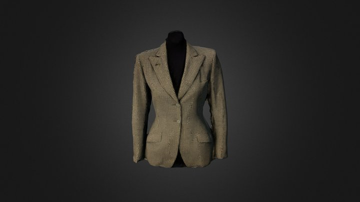 Ladies Riding Jacket, 1930s 3D Model