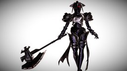 Albedo Armored (fully rigged) 3D Model