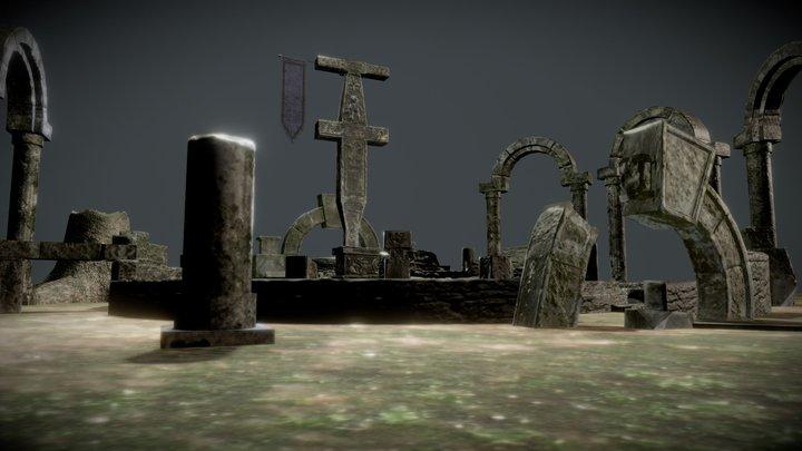 Altar Ruins 3D Model