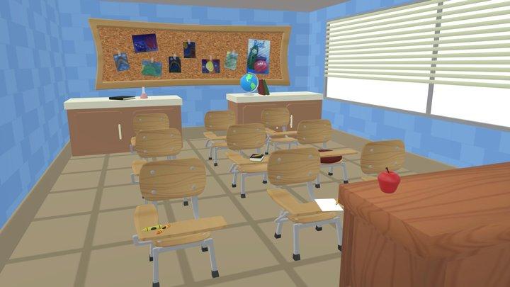 Veggie Valley Grade School Classroom 3D Model