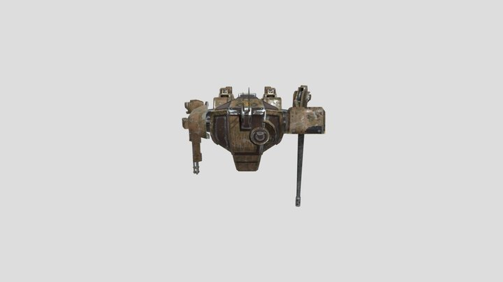 Fire Support Mech 3D Model