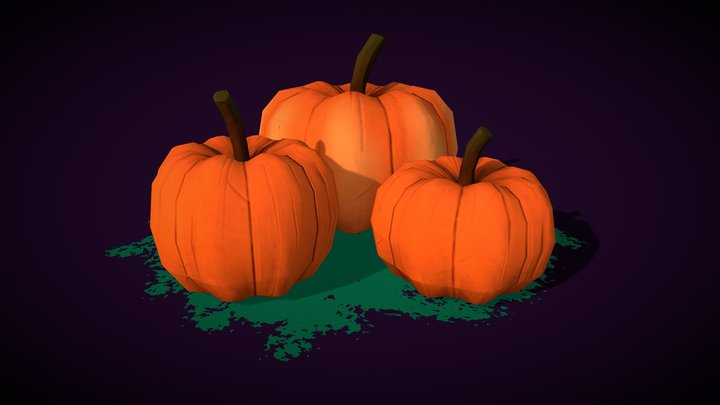 Stylized pumpkins =) 3D Model