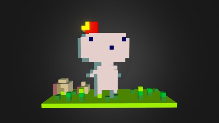 Gomez from FEZ 3D Model