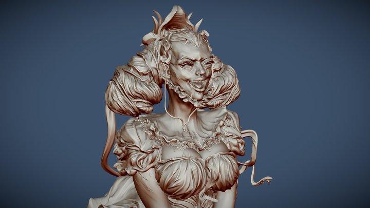 Vampire Girl_Draculas Vlad the Impaler Slave 3D Model