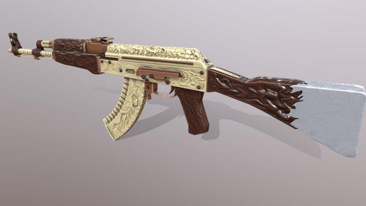 Ak-47 Chocolate Fury 3D Model