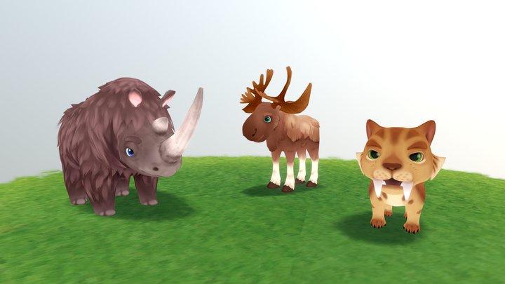 Prehistoric mammals 3D Model