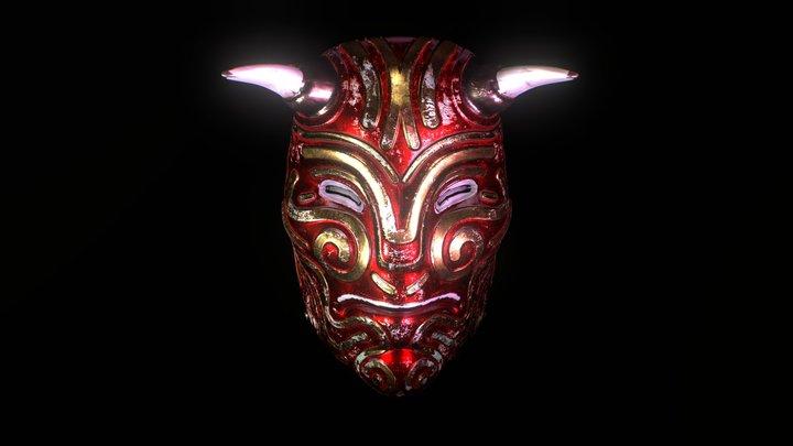 Horns - Tibetan mask 3D Model
