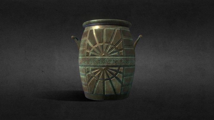 Brass Barrel 3D Model