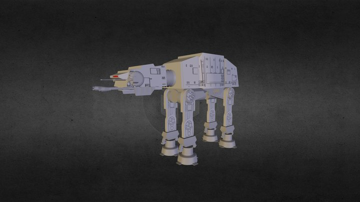AT-AT Walker 3D Model