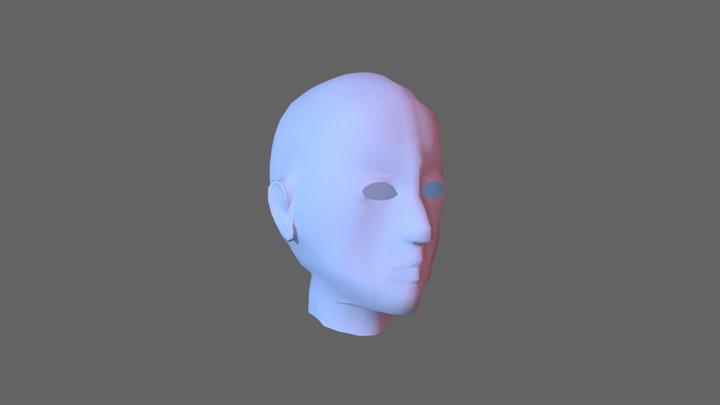 Human head. 3D Model