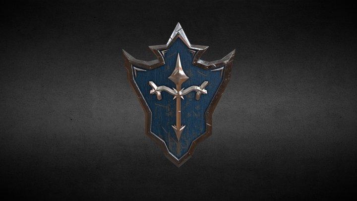 Shield Dark Fantasy 3D Model