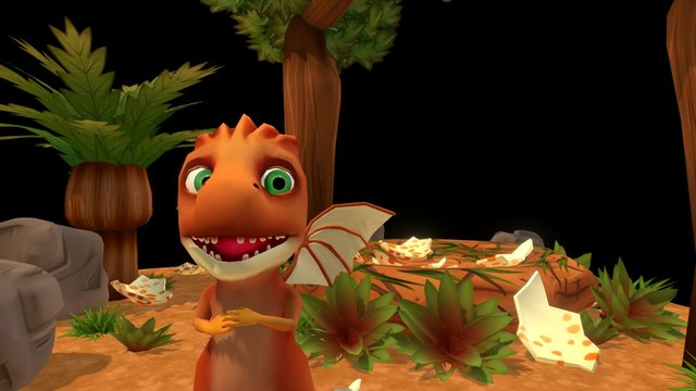 Hatched: Dino scene W. animation 3D Model