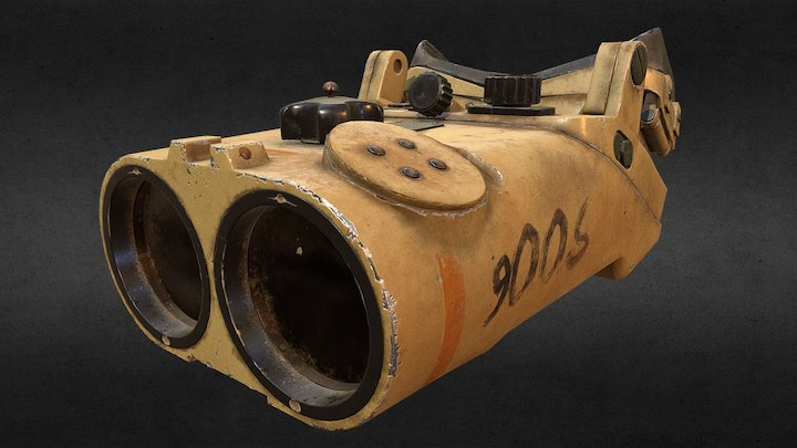 World War II Binoculars 3D Model