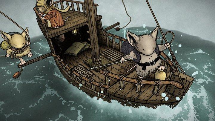 Mouse Guard - Conrad's ship 3D Model
